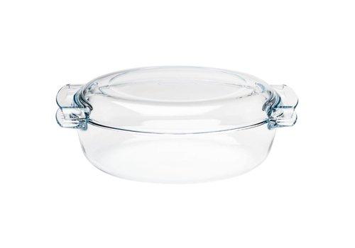 Pyrex Ovalen glazen casserole schaal, 4,5 l