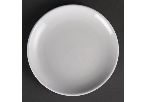 Olympia White porcelain round plates 18 cm (12 pieces)