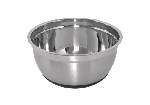 Vogue Stainless steel bowls with silicone bottom 2 formats
