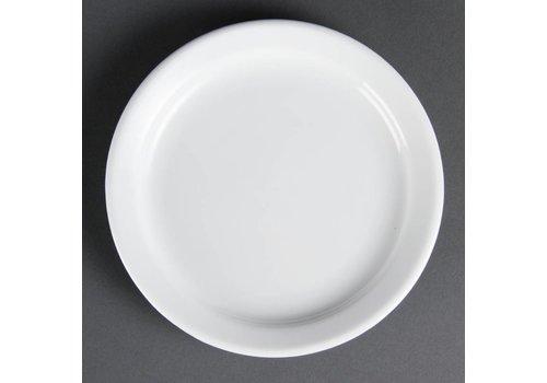 Olympia Horeca borden met smalle rand 18 cm (stuks 12)