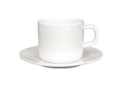 HorecaTraders Melamine Dish White | 12 pieces