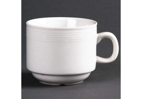 Olympia White porcelain tea cup 20 cl (12 Pieces)