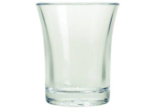 HorecaTraders Polystyrene shot glass 2.5 cl (100 pieces)