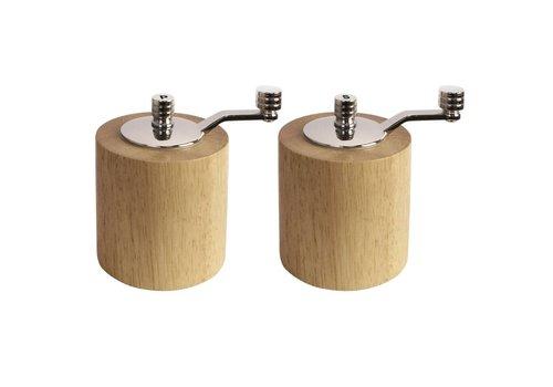 HorecaTraders Bambus Mühle Set | 8.5cm