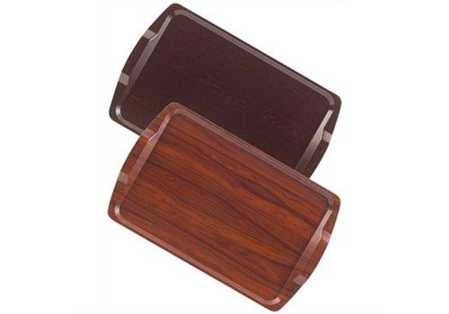 Cambro room service tray walnut