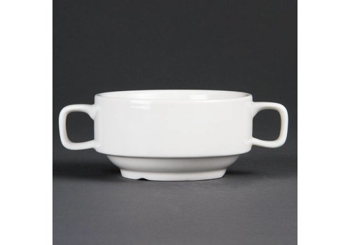 Olympia Soup Cups White Porcelain 40cl | 6 pieces
