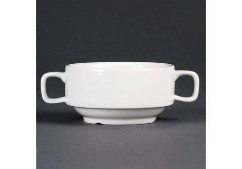 Olympia Suppentassen Weißes Porzellan 40cl | 6 Stück