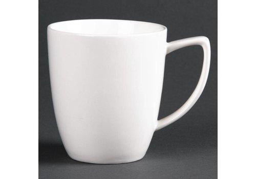 HorecaTraders White porcelain mug | 28 cl (6 pieces)