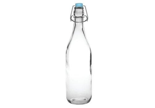 Olympia Glazen waterflessen met beugelsluiting, 1180 ml (6 stuks)