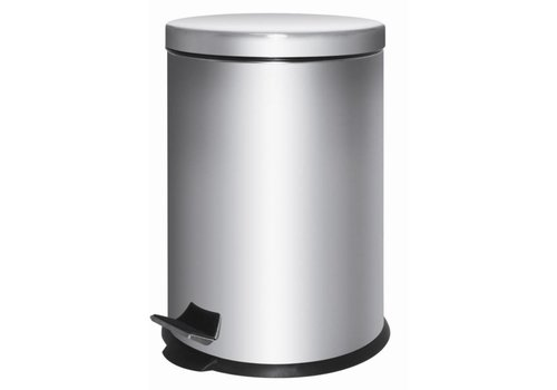 HorecaTraders Stainless steel waste bin with pedal   5 L