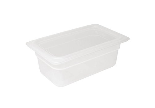 Vogue Gastronorm plastic container 1/4 with lid 2 formats