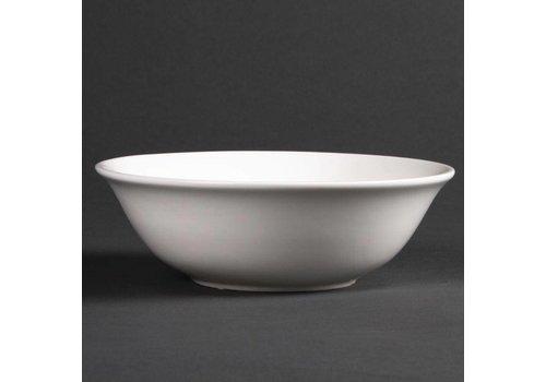 HorecaTraders White porcelain dessert dishes | 16 cm (6 pieces)