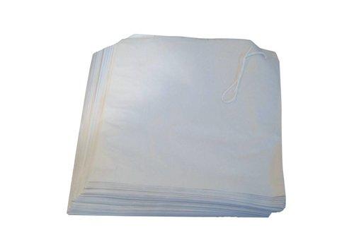 HorecaTraders Weiß Papiertüten 17,5 cm x 17,5 cm (1000)