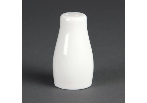 Olympia Zoutstrooier Porzellan Weiß 9cm   12 Stück