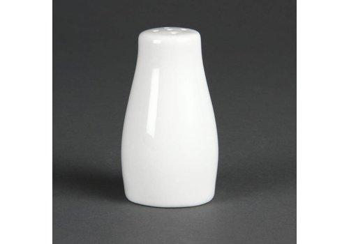 Olympia Pfefferstreuer Weißes Porzellan 9cm   12 Stück