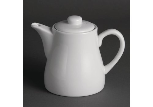 Olympia White porcelain teapot 50 cl (4 pieces)