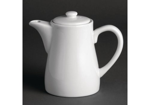 Olympia Coffeepot white porcelain 30 cl. (4 Pieces)