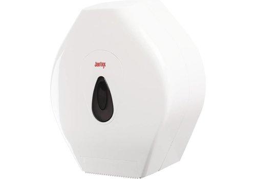 Jantex Jumbo toilet roll dispenser plastic white