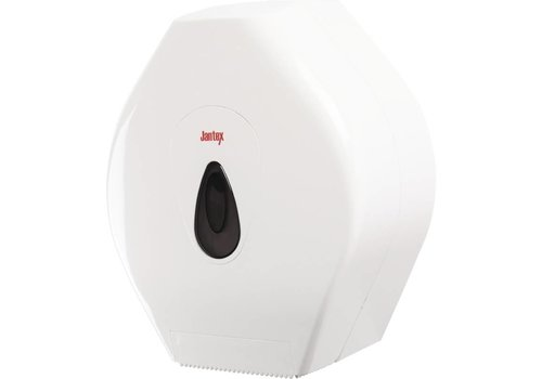 Jantex Jumbo toiletrol dispenser kunstof wit