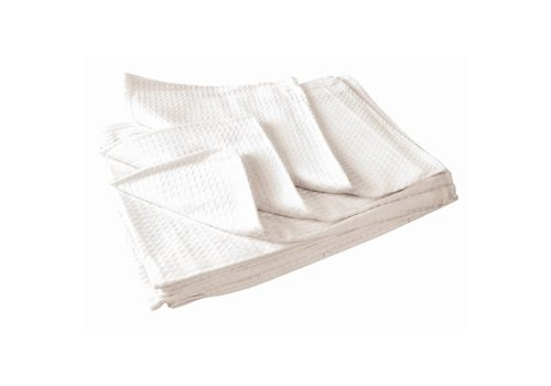Vogue Tea towel honeycomb structure white (box 10)
