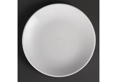 Olympia White porcelain plate around 15 cm (12 pieces)