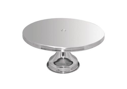 HorecaTraders Cake dish Ø33 cm   Stainless steel