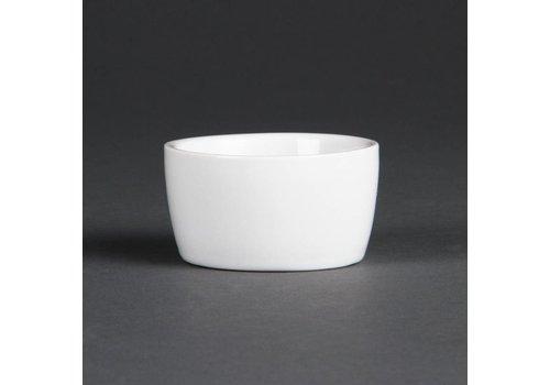 Olympia Porzellan Butterdose Weiß   12 Stück