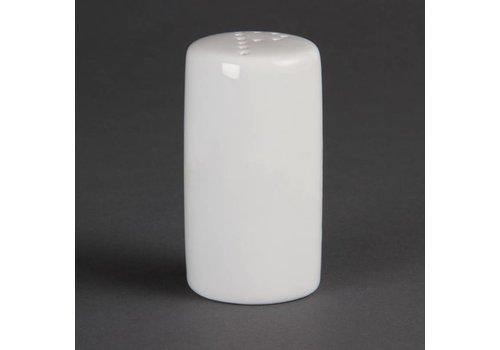 Olympia Pfefferstreuer Weißes Porzellan 8cm   12 Stück