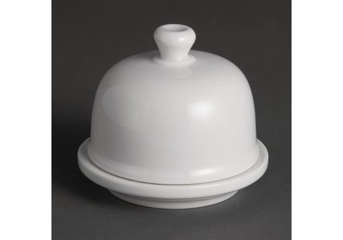 Olympia Butter Schüssel mit Deckel Porzellan   6 Stück