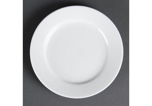 Olympia Witte porselein eet borden rond 16,5 cm (Stuks 12)
