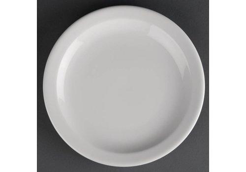 Athena Witte porselein Borden | 20 cm (12 stuks)