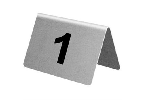 HorecaTraders SS Table Numbers 1 t / m 40 | 10 pieces