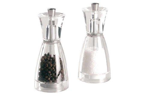 HorecaTraders Plastic pepper mill | 12.5 cm