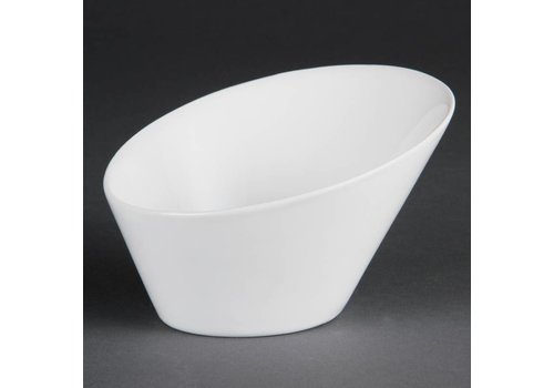 Olympia White Porcelain Oval Bowl 15cm | 4 pieces