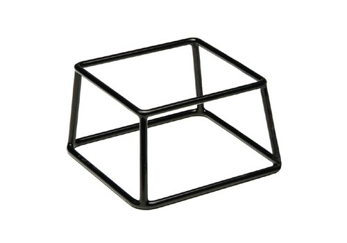 HorecaTraders Buffet Stand Black | 10 x 18 x 18 cm