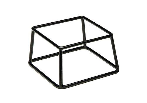HorecaTraders Buffetstaander Zwart | 10 x 18 x 18 cm