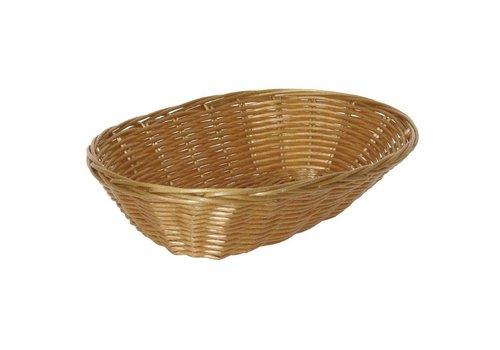 HorecaTraders Oval Table Basket 23 x 15 x 7 cm (6 pieces)