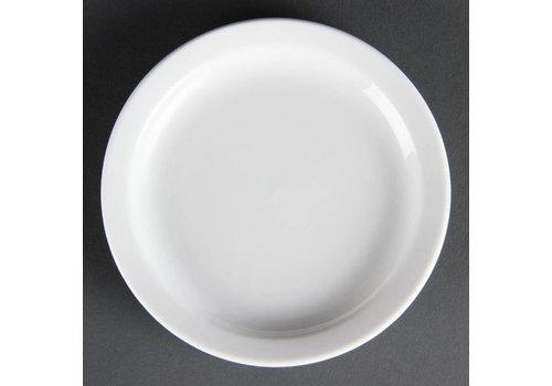 Olympia Weiße Porzellanteller 15 cm (12 Stück)