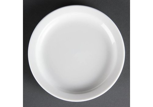 Olympia White porcelain plates 15 cm (12 pieces)