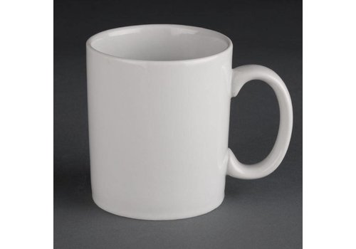 Athena witte porselein mokken | 30cl (12 stuks)