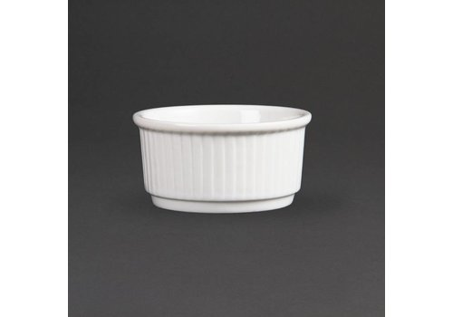 Olympia Stapelbare Weißporzellan Ramekin 8cm | 12 Stück