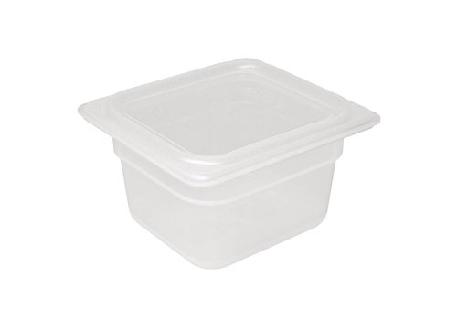 Vogue Plastic GN containers 1/6 with lid 2 formats