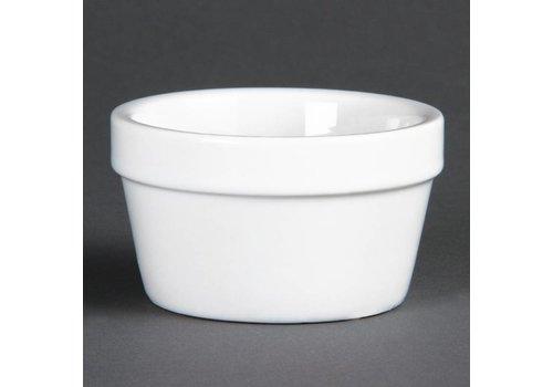 Olympia Schüssel rund Weißes Porzellan 8cmØ | 6 Stück