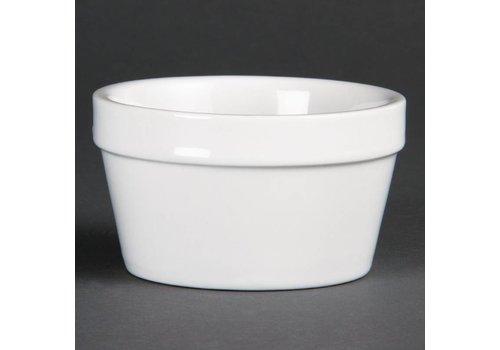 Olympia White Stackable porcelain bowls 10cmØ | 6 pieces