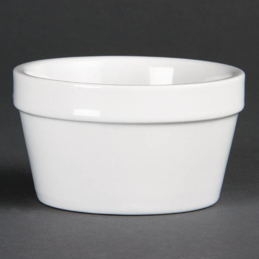 White Stackable porcelain bowls 10cmØ | 6 pieces