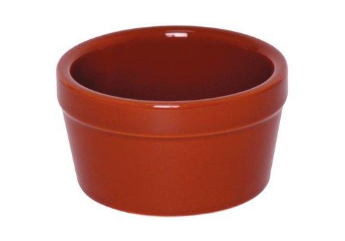 Olympia Brown Porzellan Sauce Geschirr 9,5cm | 6 Stück
