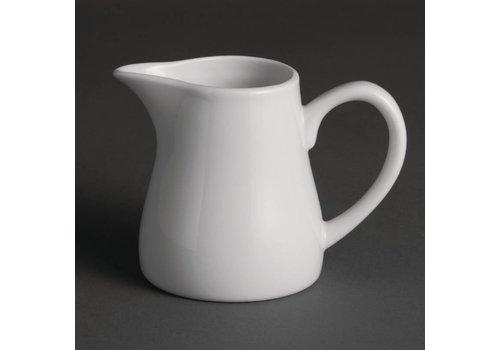 Olympia Weißer Porzellanmilchkrug | 21,2 cl (Stück 6)