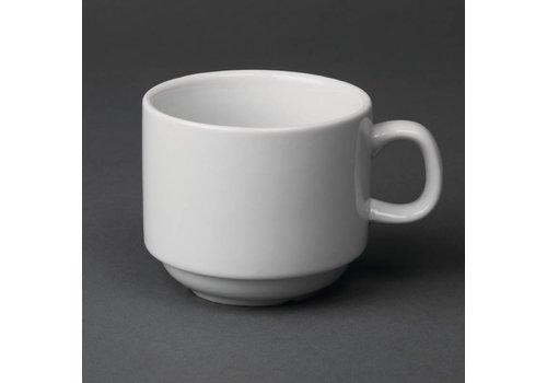 Olympia Stapelbare Kaffeetassen Weißes Porzellan 20 cl (12 Stück)