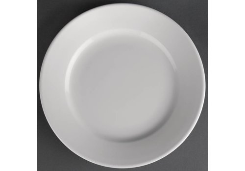 Athena White porcelain plate with wide edge | 16.5 cm (piece 12)