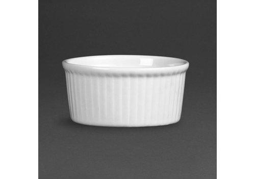 Olympia Weißes Porzellan ramekin Gerichte 8 cm | 12 Stück